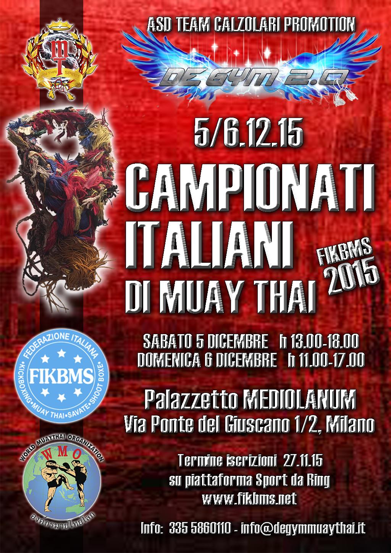 CAMPIONATI ITALIANI MUAY THAI 2015