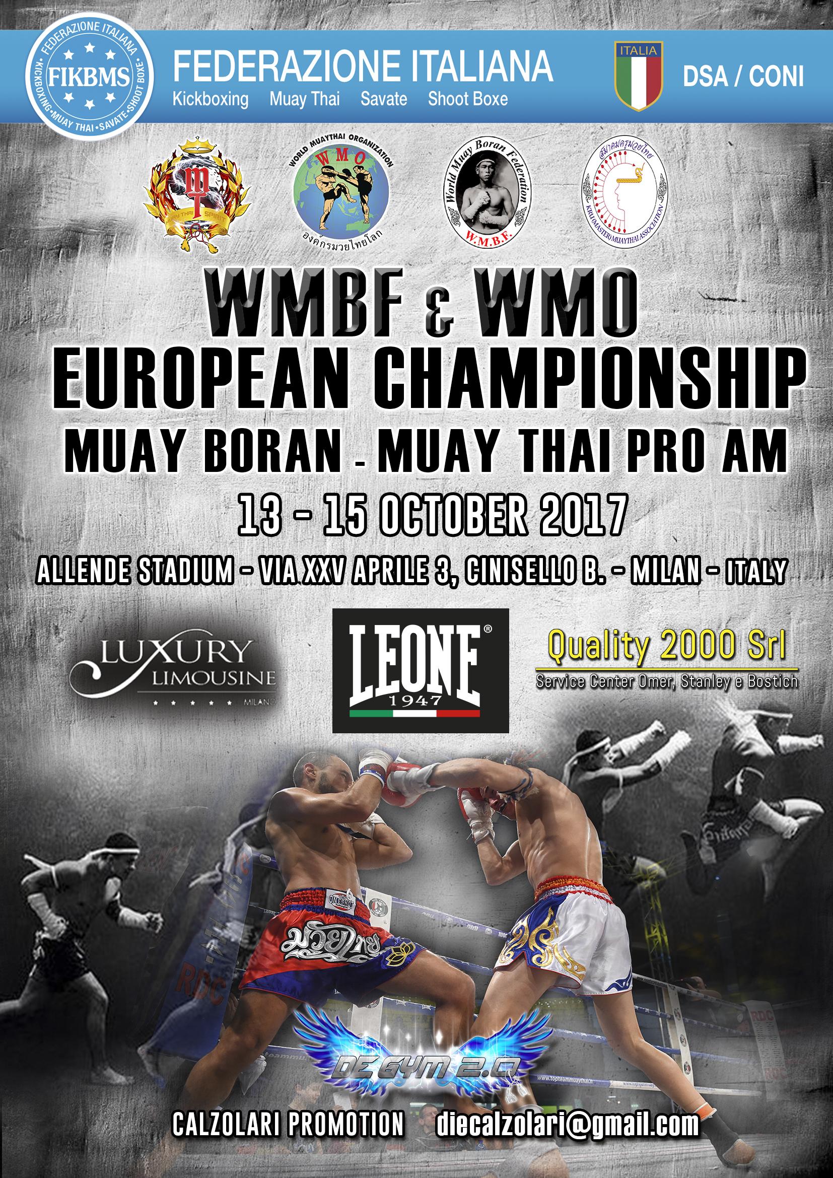 EUROPEAN WMO ITALY con sponsor